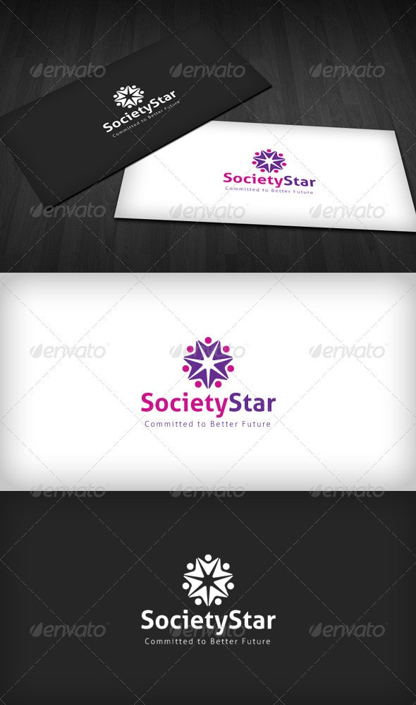 Society Star Logo - Humans Logo Templates