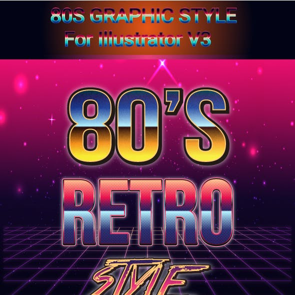 80'S Graphic Style for Adobe illustrator V3