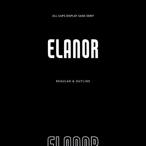 Elanor Display Sans Serif Regular Outline Font