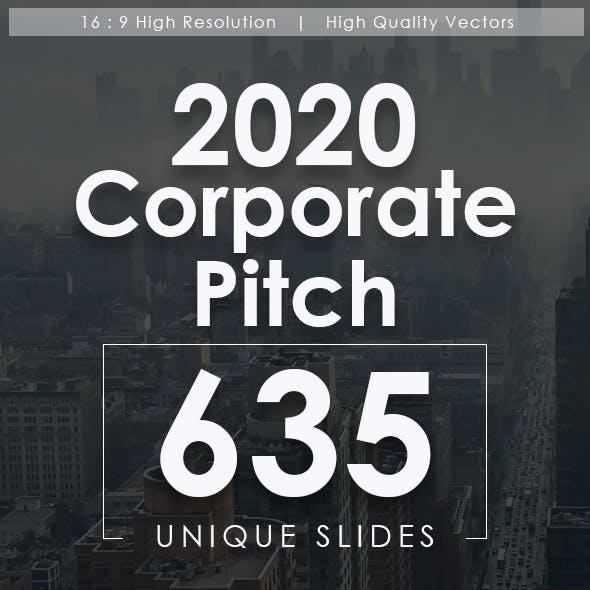 2020 Corporate Pitch Powerpoint Templates Bundle
