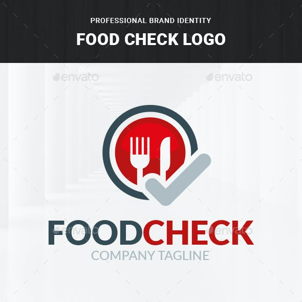 Food Check Logo Template