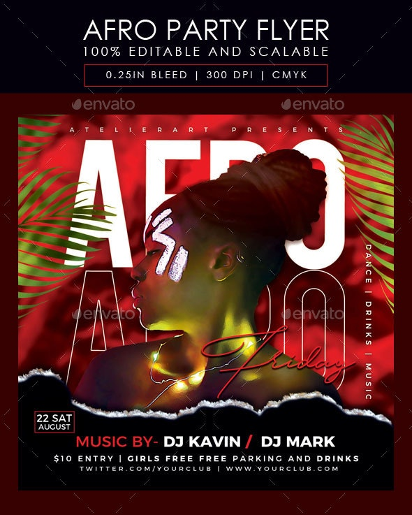 Afro Party Flyer