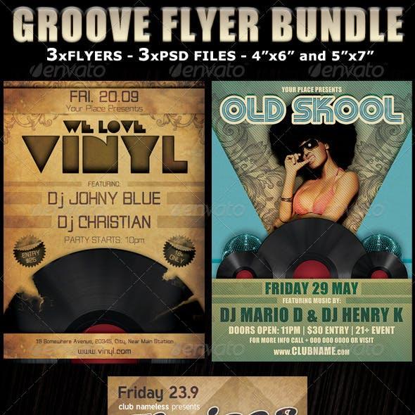 Groove Party Club Flyer Bundle