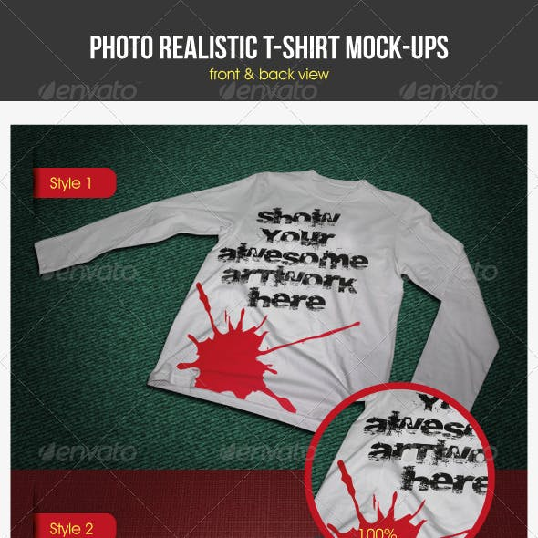 Photorealistic T-Shirt Mock-Ups