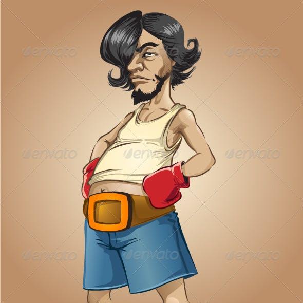 Weird Boxer Cartoon