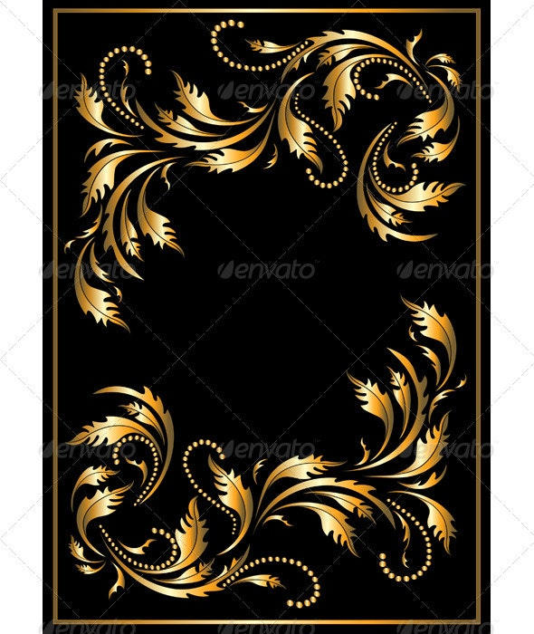 Gold  Frame in The Gothic Style - Decorative Vectors