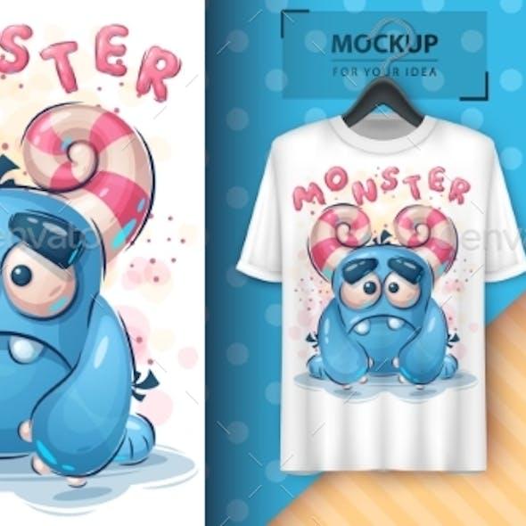 Sad Monster Poster and Merchandising