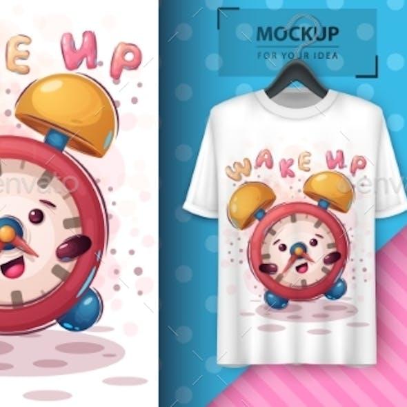Alarm Clock Poster and Merchandising.