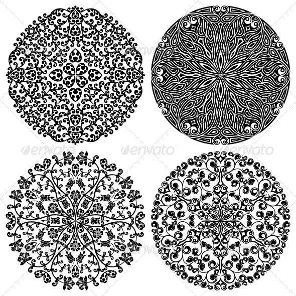 Floral patterns set - Patterns Decorative