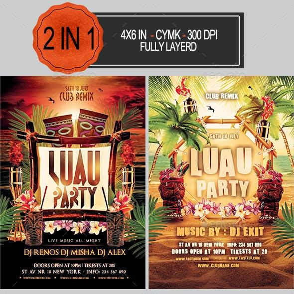 Luau Party Flyer Bundle