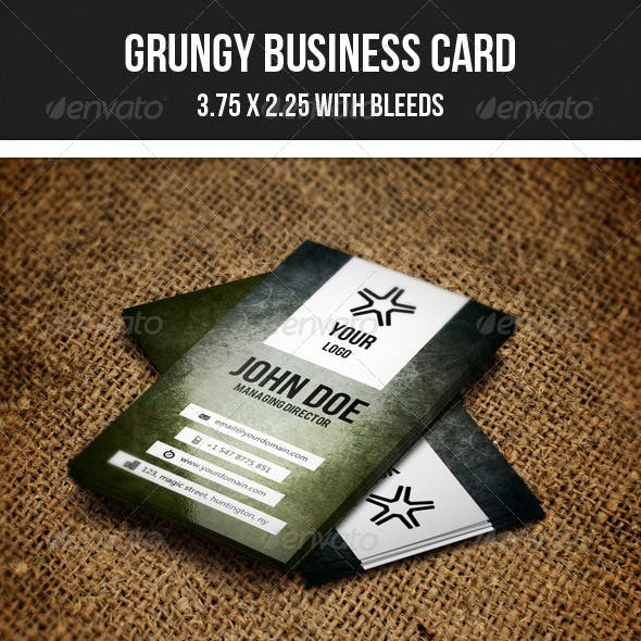 Grungy Minimal Business Card