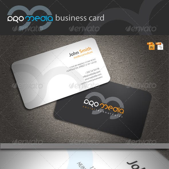 Pro Media Business Card