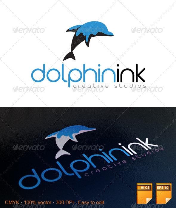 Dolphin Ink Logo - Animals Logo Templates