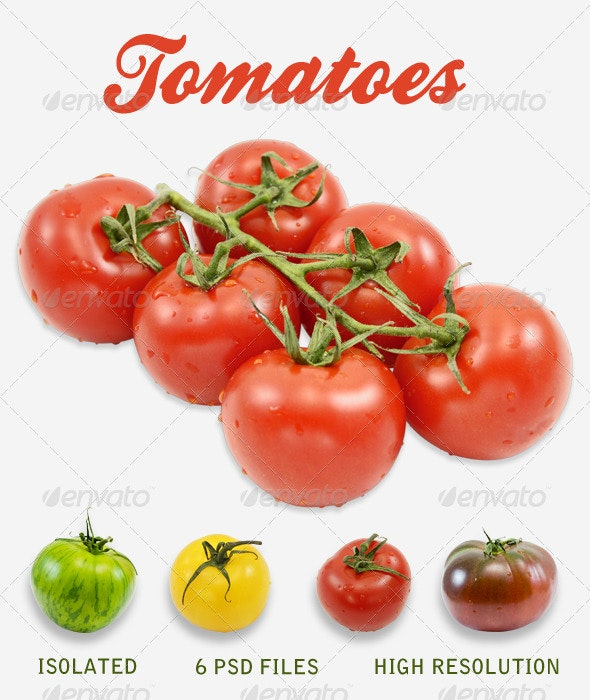 Tomatoes Pack - Food & Drink Isolated Objects