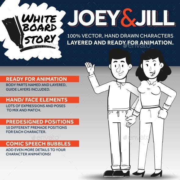 Joey & Jill: Whiteboard Characters Ready for Animation
