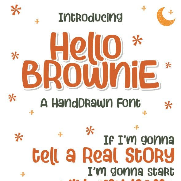Hello Brownie - a Handdrawn Font