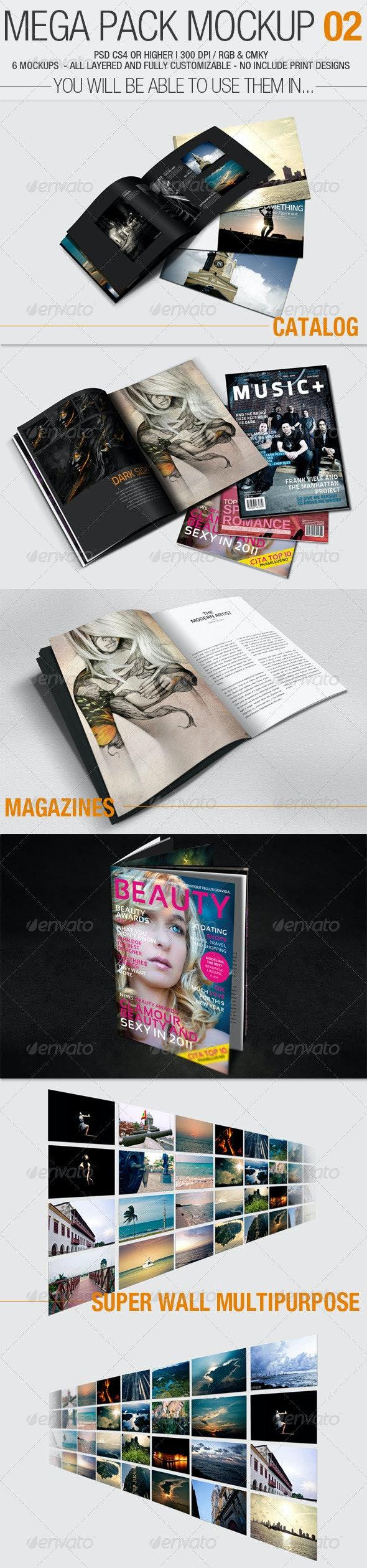 Mega Pack Mock-Up #2 - Magazines Print Templates