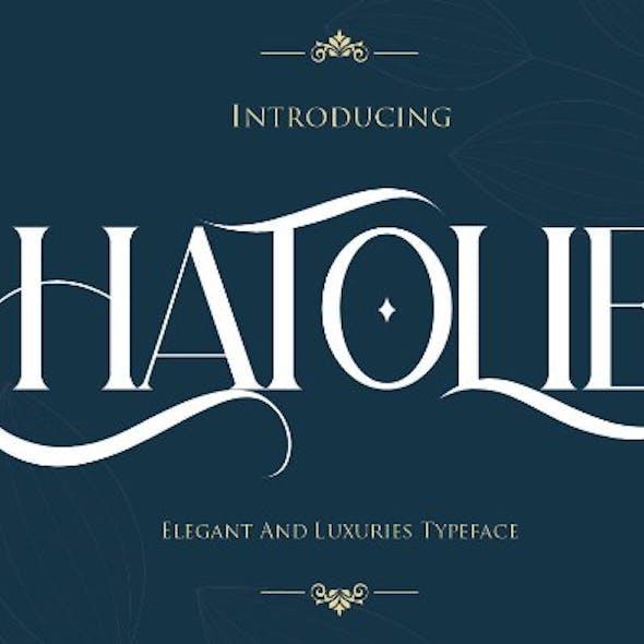 Hatolie - Elegant And Luxuries Typeface