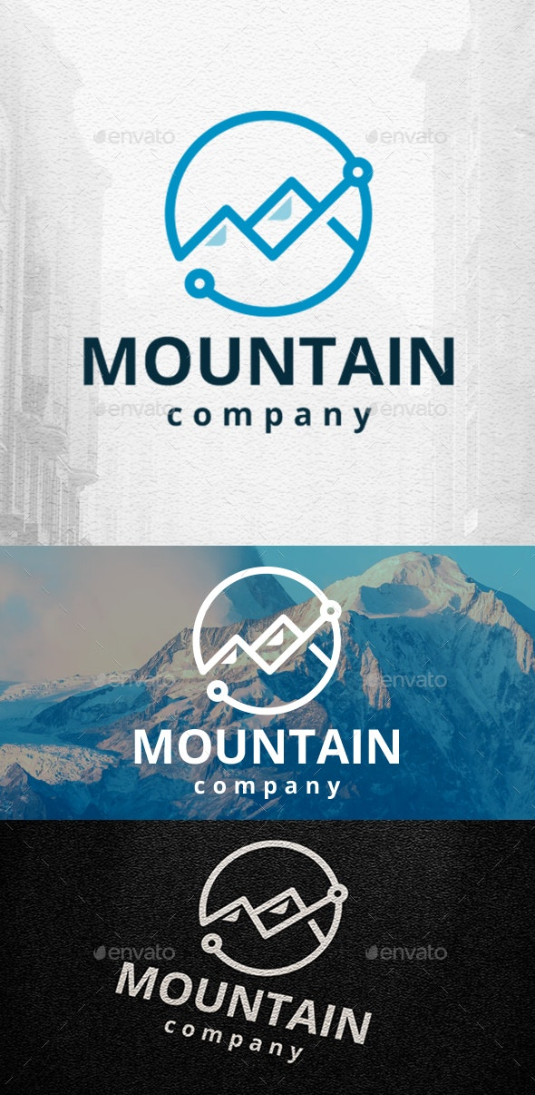 Mountains Logo Template - Nature Logo Templates