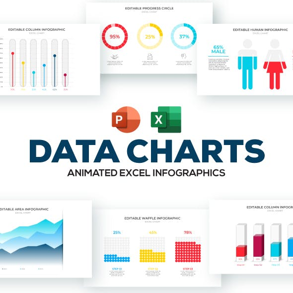 Data Charts PowerPoint Presentation Template