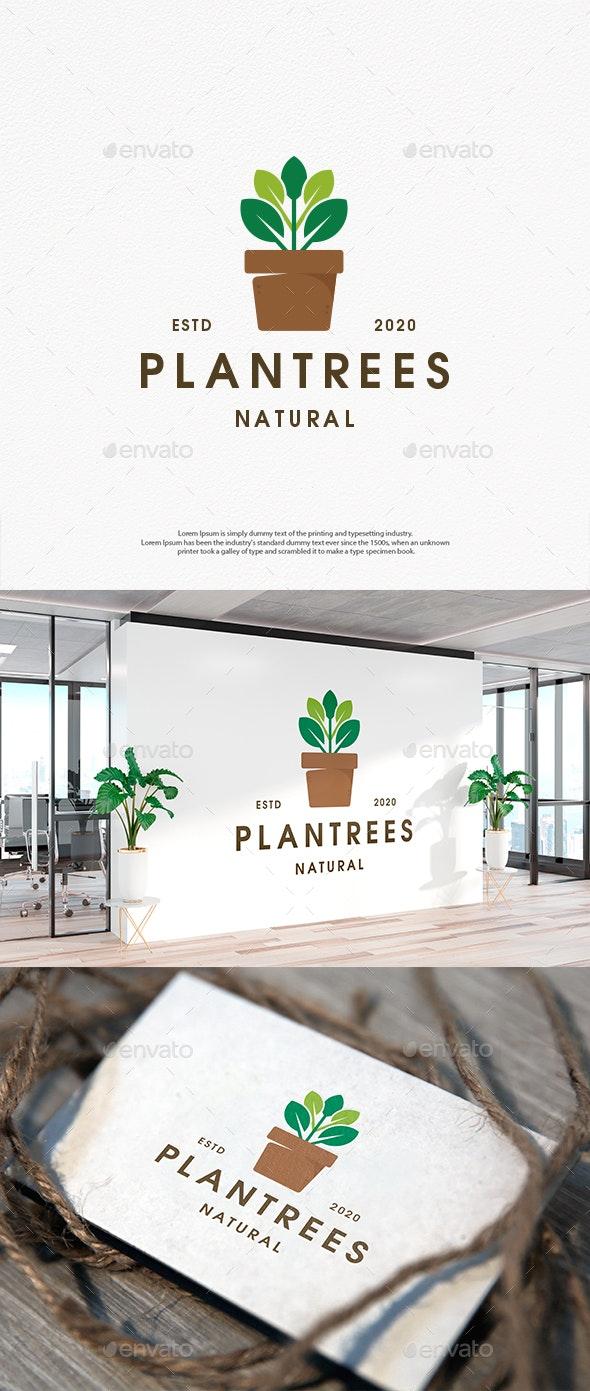 Plant Pot Decorative Logo Template - Nature Logo Templates