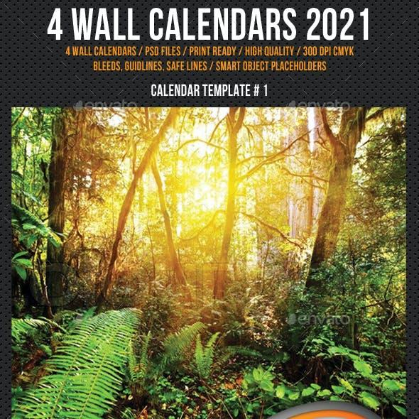 4 Creative Wall Calendar 2021 Bundle