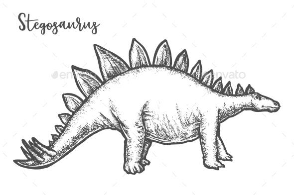 Dinosaur sketch for kids