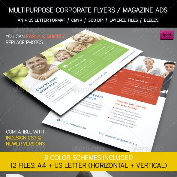Multipurpose Corporate Flyers / Magazine Ads
