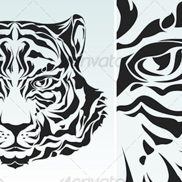 Tiger head silhouette