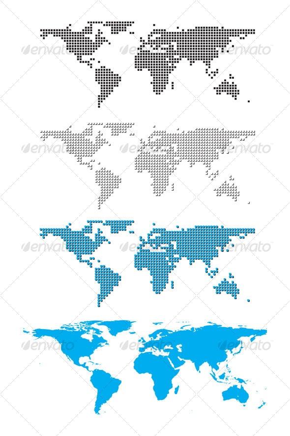 Digital world map - Backgrounds Decorative