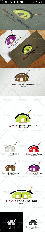 Dream House Builder Logo - Buildings Logo Templates