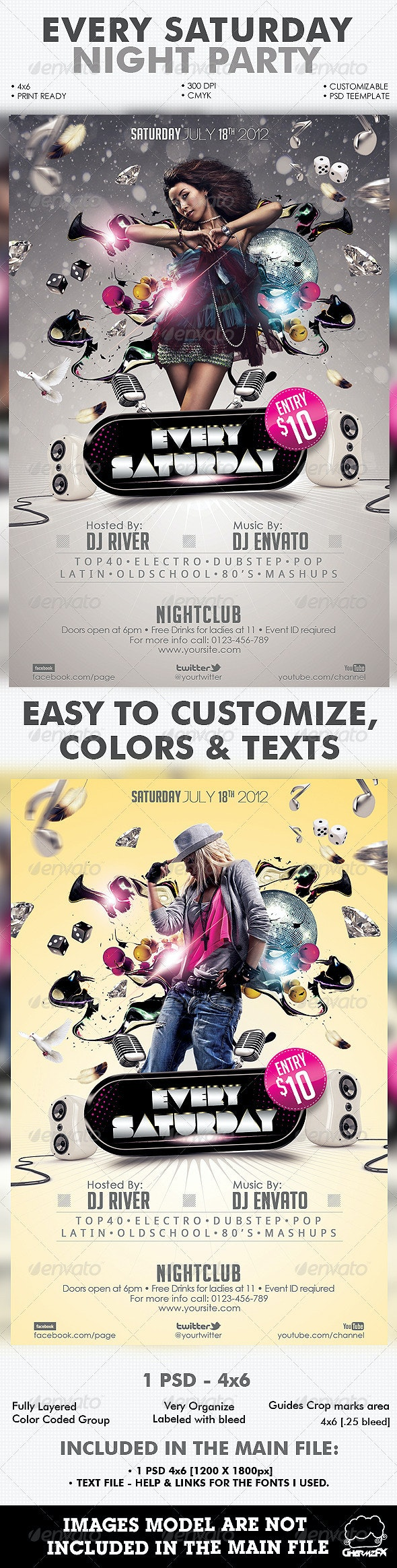 Every Saturday Flyer Template - Events Flyers