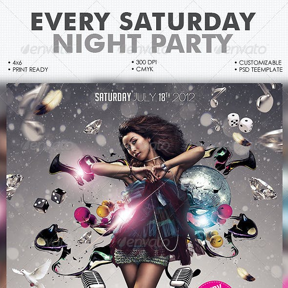 Every Saturday Flyer Template