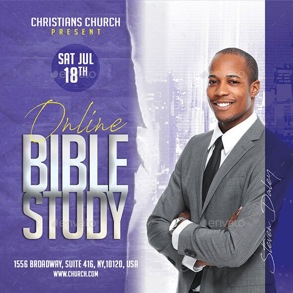 Church Flyer Bible Study