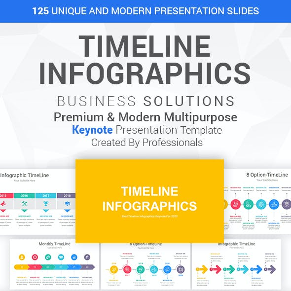Timeline Infographics-Diagrams Keynote Template