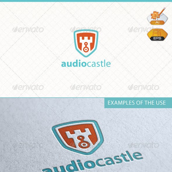 Audio Castle Logo Template