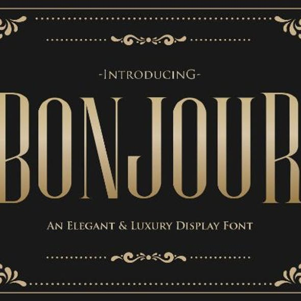 Bonjour - An Elegant & Luxury Typeface