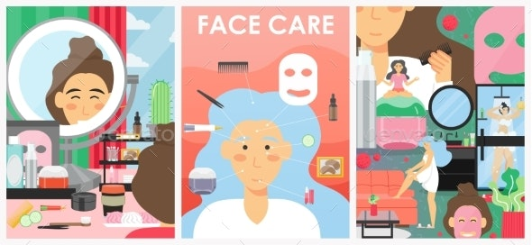 Skin Care And Beauty Vector Poster Banner Template By Skypicsstudio