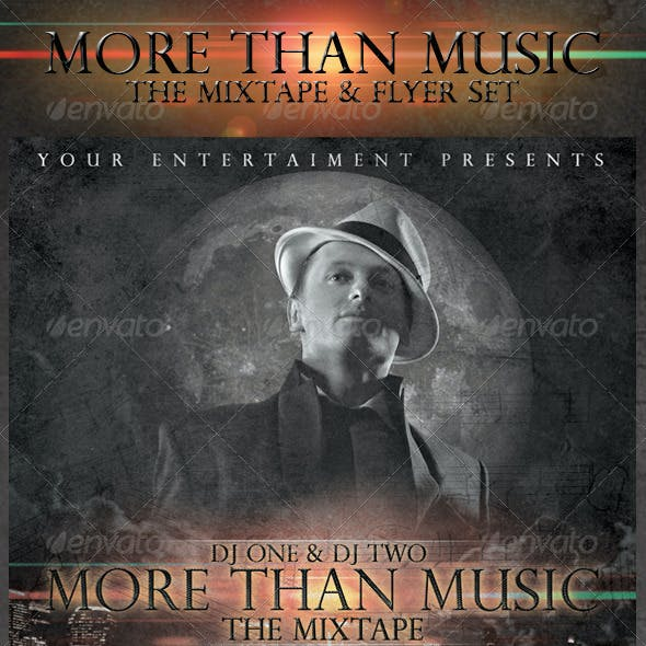 More Than Music - Mixtape and Flyer Template