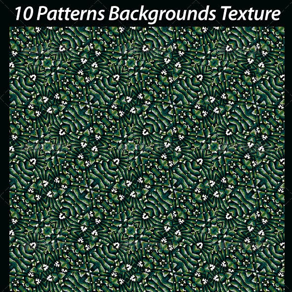 10 Patterns Backgrounds Texture