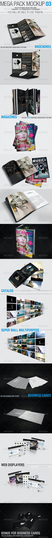 Mega Pack Mock-Up #3 - Brochures Print