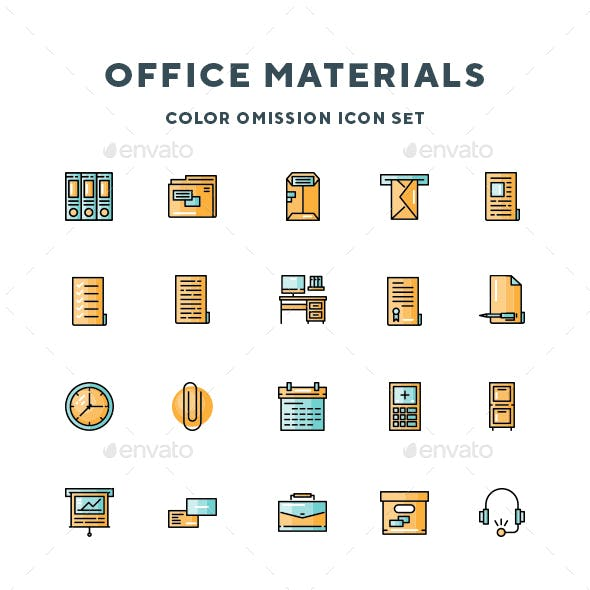 Office Materials Icons