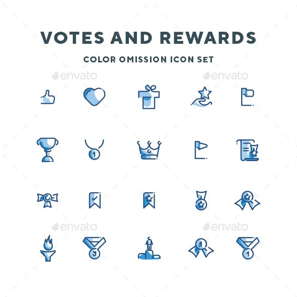 Votes and Rewards Icons