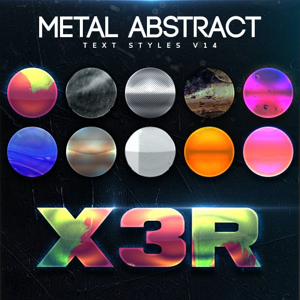Metal Abstract Text Styles V14