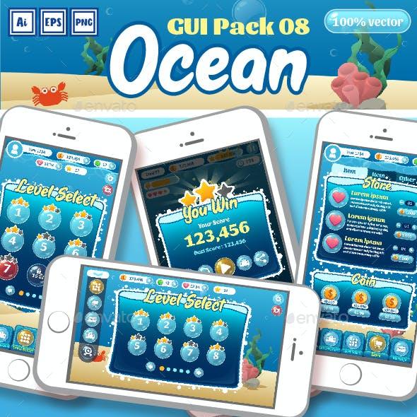 Ocean Theme GUI Pack 08