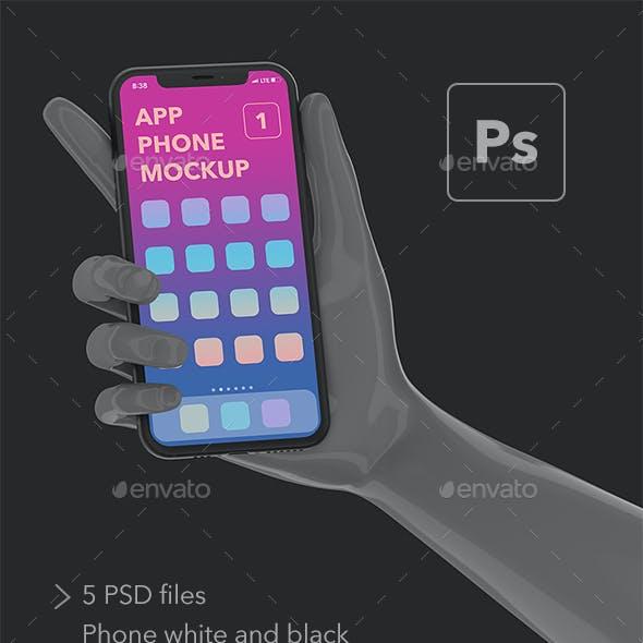 App phone mock-up