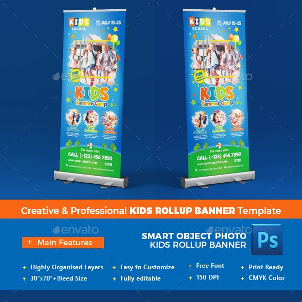 Kids Rollup Banner