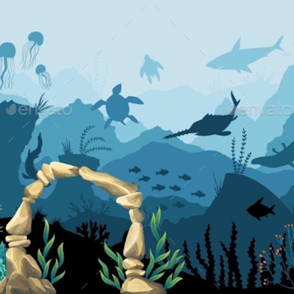 Underwater Sandstone Arch