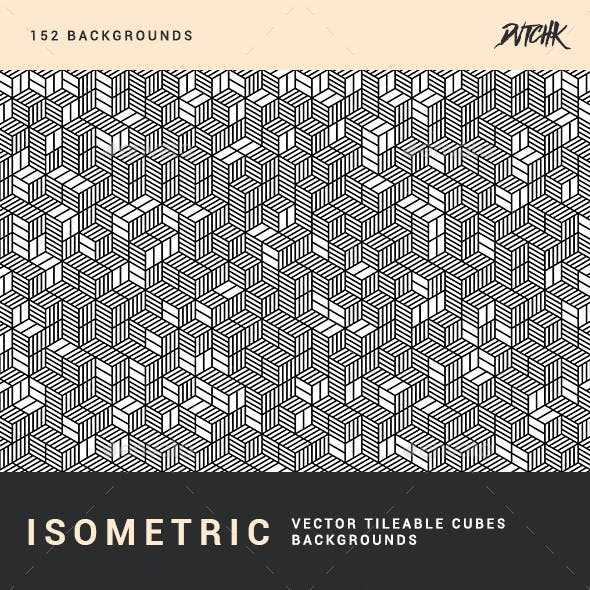 Isometric Cubes | Vector Tileable Backgrounds
