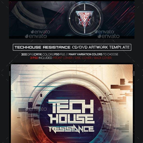 Techno House Album Artwork Photoshop CD/DVD Template